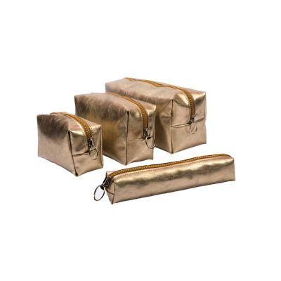 - Kit necessaire   - Necessaire premium gift Dubai gold  m Referência pd02 Dimensões 15 x 9 x 8 cm  - Necessaire premium Gift dubai gold  p  referência...