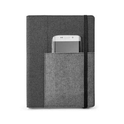 Job Promocional - Caderno com capa de tecido