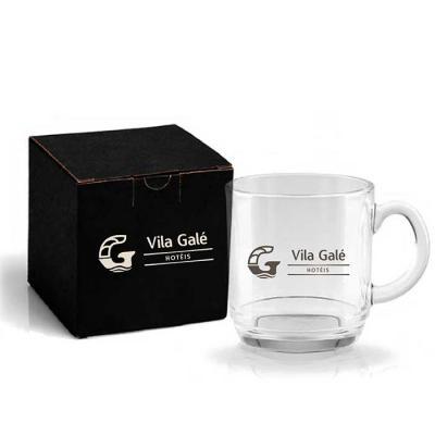 Caneca em vidro capacidade 300ml. Ideal para café e/ou capuccino. Acompanha embalagem* Cor da emb...