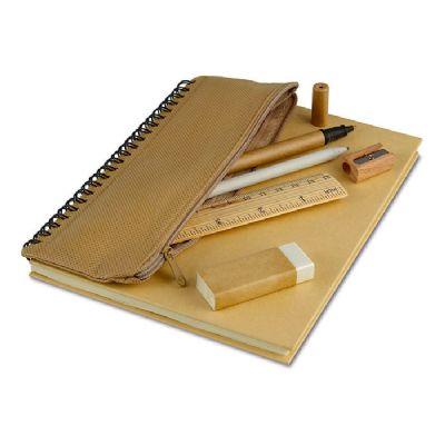 yepup - Conjunto caderneta de bolso com estojo de lápis