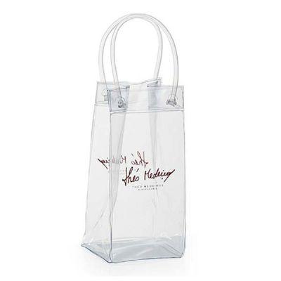 YepUp Presentes Criativos - Ice Bag PVC 0,20 Cristal 0,40mm , Alça do próprio PVC. 25cm altura X 12cm largura X 12cm profundidade.