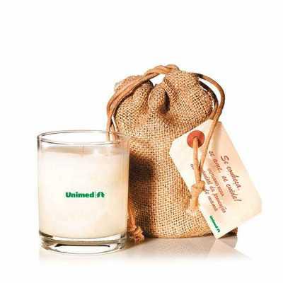 yepup-brindes-e-presentes-criativos - Kit SPA com vela aromática, embalagem em tecido natural e tag personalizada
