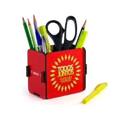 YepUp Presentes Criativos - Porta lápis e caneta personalizado, em MDF.