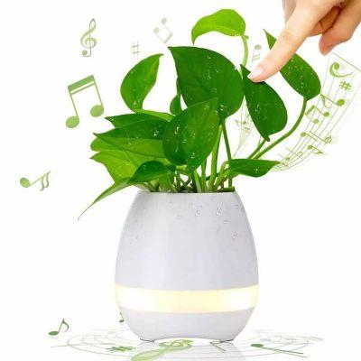 YepUp Presentes Criativos - Luminária MP3 Abajur, vaso de planta personalizado