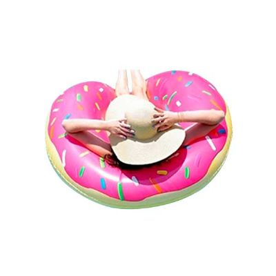 YepUp Presentes Criativos - Boia inflável formato donuts