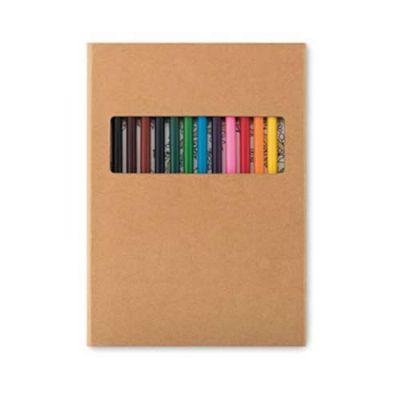 Kit criatividade: Estojo com 12 lápis e 30 Desenhos.