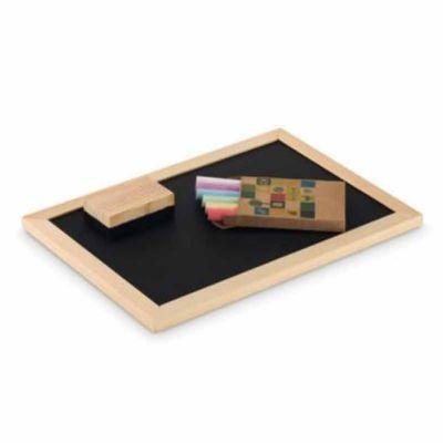 YepUp Presentes Criativos - Kit Criatividade: Estojo com lousa em madeira,caixa com 06 giz e mini apagador em madeira. Acompanha embalagem. Losa : 20x15cm.