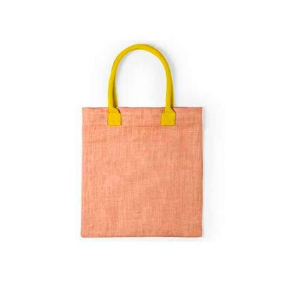Sacola ecobag personalizada, com alça colorida. Material: Juta/ Algodão. Medidas do produto: 38 x...