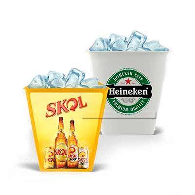 Balde de Gelo personalizado - Abra Promocional