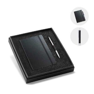Kit de caderneta e esferográfica executivo - Abra Promocional