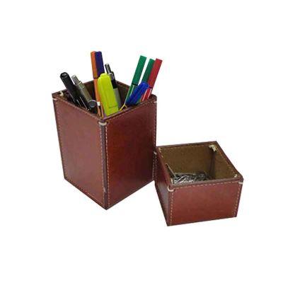 Abra Promocional - Porta-caneta e porta-clips em couro ou sintético