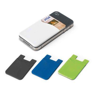 Mexerica Brindes - Porta cartões para smartphone em silicone