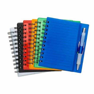 mexerica-brindes - Bloco de anotações com caneta