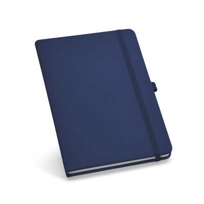 Caderno capa dura. C. sintético. Com porta esferográfica e 80 folhas não pautadas. 120 x 170 mm