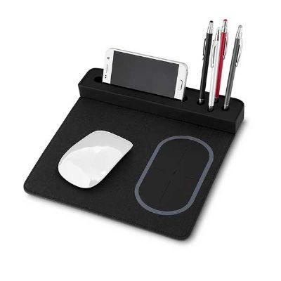 mexerica-brindes - Mouse pad com carregador por indução