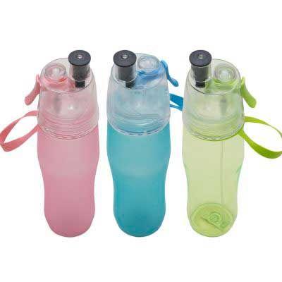 Squeeze plástico com borrifador - Mexerica Brindes