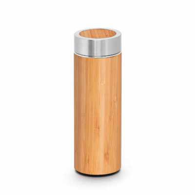 3zero-brindes - Garrafa térmica em bambu