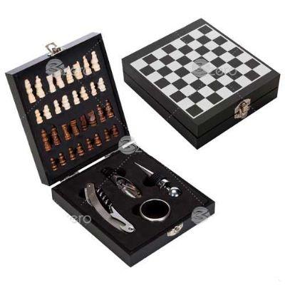 3zero-brindes - Kit vinho com xadrez