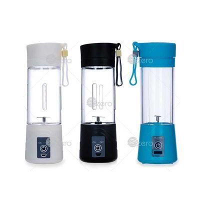 3Zero Brindes - Mini liquidificador de plástico resistente com hélice de aço inoxidável, totalmente desmontável. Possui coador, alça emborrachada para transporte e bo...