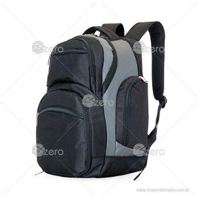 3zero Brindes - Mochila notebook com compartimento térmico