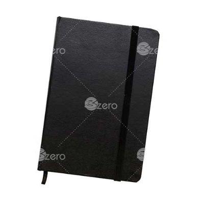 3zero-brindes - Caderneta brochura com capa dura e marca página de cetim, contém aproximadamente 80 folhas amareladas com pauta.  Medidas aproximadas para gravação (C...