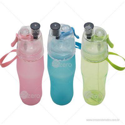 3zero Brindes - Squeeze plástico 700ml com borrifador