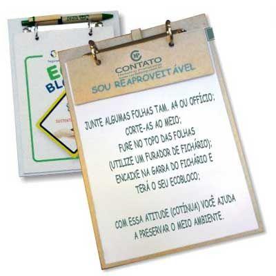 Contato Marketing Promocional - Bloco de notas ecológico