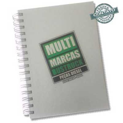 Contato Marketing Promocional - Caderno capa dura 15x21cm
