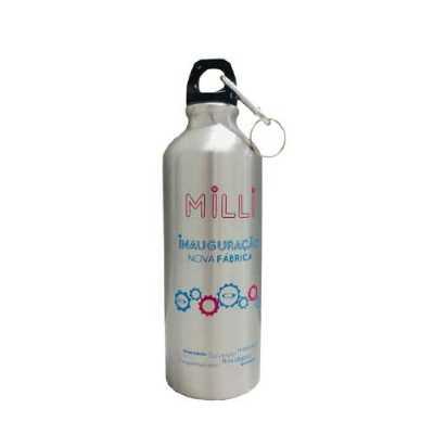 giftway - Squueze 500ml de aluminio com pitura metalizada, tampa rosqueável (não é térmico)