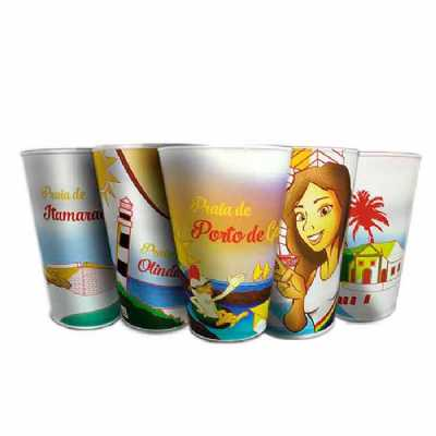 Kit copo personalizado das prais de Pernambuco - GiftWay