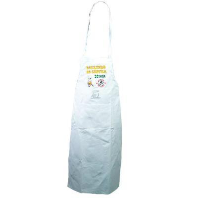SP Uniformes - Avental em Brim com bordado e regulagem na cor branca e com bolso