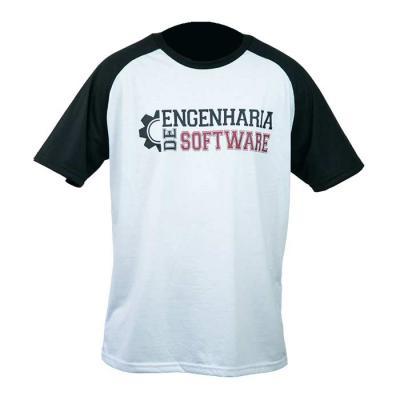 Camiseta gola redonda modelo raglan, com silk na frente - SP Uniformes