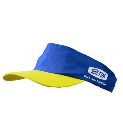 SP Uniformes - Viseira em brim com regulagem e plastico com silk