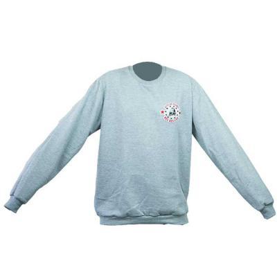SP Uniformes - Blusa de moletom flanelada, gola redonda com bordado