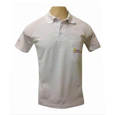 sputnik-uniformes - Camiseta gola pólo cor branco