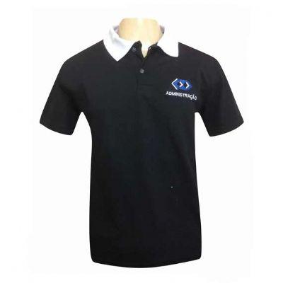 sputnik-uniformes - Camiseta gola pólo cor preto
