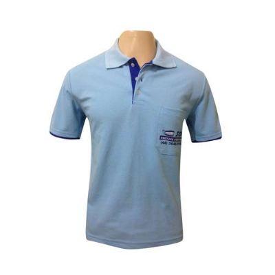 sputnik-uniformes - Camiseta gola pólo cor azul bebe