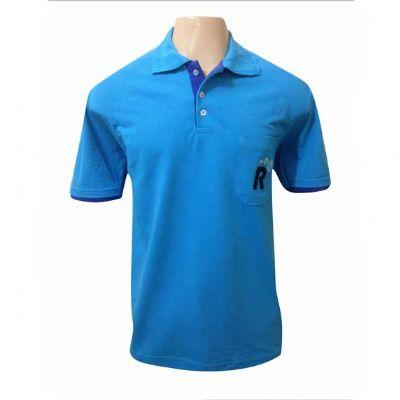 sputnik-uniformes - Camiseta gola pólo cor azul