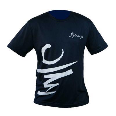 SP Uniformes - Camiseta gola redonda, malha pv (67% poliéster e 33% viscose) cor azul marinho