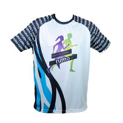 Camiseta na malha Dry com 100% sublimação, com proteção UV. - SP Uniformes