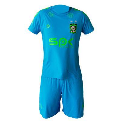 SP Uniformes - Conjunto de futebol, malha dry sport, na cor azul turquesa com silks