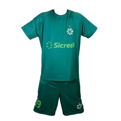 sputnik-uniformes - Conjunto confeccionado na malha Dry Sport com proteção UV, secagem rápida e ótima absorção na cor verde.
