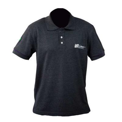 SP Uniformes - Camiseta gola pólo, malha Piquet PA (50% algodão / 50%poliéster) com bordado e vivo nas mangas.
