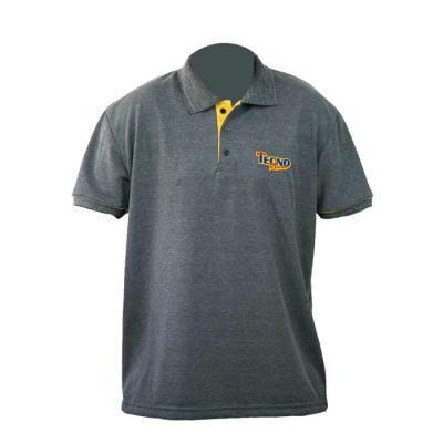 sputnik-uniformes - Camisa gola pólo, malha Piquet PA Estonado (50% algodão / 50%poliéster), com vivo nas mangas e bordado.