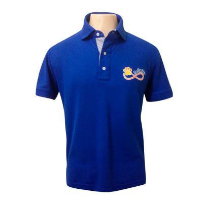 SP Uniformes - Camisa gola polo, piquet com bordado e abertura dos botoes personalizada