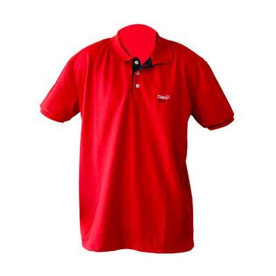 sputnik-uniformes - Camisa confeccionada em malha piquet com vivo nas mangas e bordado.