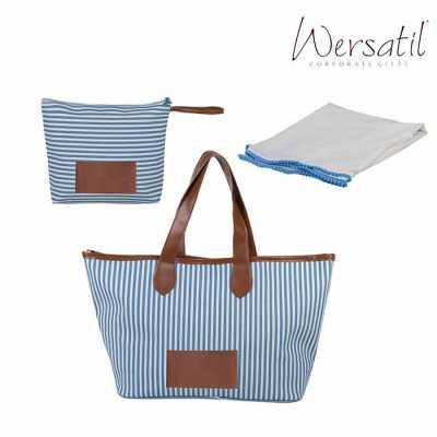 wersatil - Kit praia com bolsa, necessaire e canga