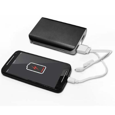 a-e-t-brindes - Kit carregador portátil Power Bank c/ 3 baterias