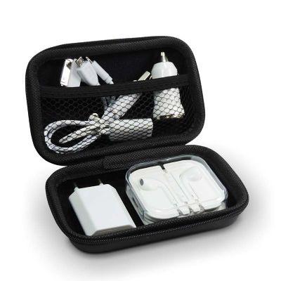 a-e-t-brindes - Kit carregador de celular com fone de ouvido