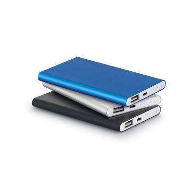 A & T Brindes Promocionais - Bateria portátil slim personalizada